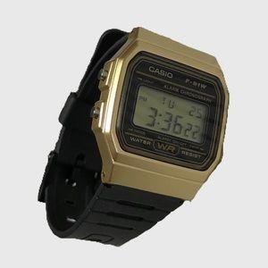 Casio F-91W digital watch - gold
